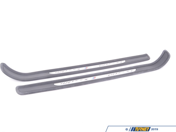 T#2970 - 51477979359-360 - Genuine BMW M3 Door Sill Strips (pair) - These genuine BMW door sill strips give your M3 a custom look featuring a checkered flag motif to greet you and your passenger each time you enter your M3.  Includes left and right door sill strips. This item fits the following BMWs:2008+  E92 BMW M3 Coupe2008+  E93 BMW M3 Convertible - Genuine BMW - BMW