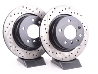 Cross-Drilled & Slotted Brake Rotors - Rear - E85 Z4 3.0i, 3.0si (Pair)