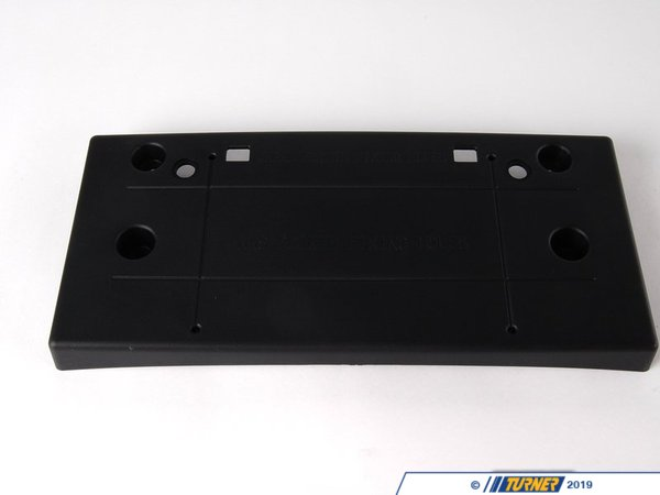 T#23308 - 51117030068 - Genuine MINI Cover, Registration Plate Schwarz - 51117030068 - Genuine Mini -