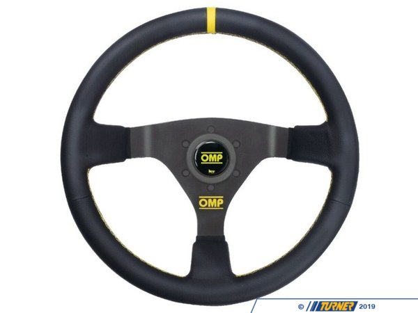 T#393640 - OD/1980/N - OMP WRC Racing Steering Wheel - Mid-depth 350mm dished | Black Leather - OMP - BMW