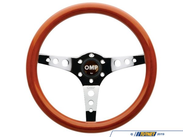 T#393667 - OD/2023 - OMP Mugello Steering Wheel - Wooden 350mm - Special Order - OMP - BMW