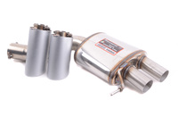 F13 M6 Supersprint Stainless Right Racing Muffler with Satin Silver Tips
