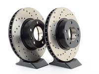 Cross-Drilled Brake Rotors - Front - E34 540i - E32 735i 735il 740i 740il 750il (pair)