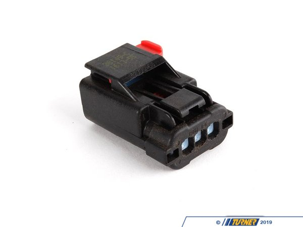 T#40472 - 12527511371 - Genuine MINI Socket Housing 3 Pins Black - 12527511371 - Genuine MINI -