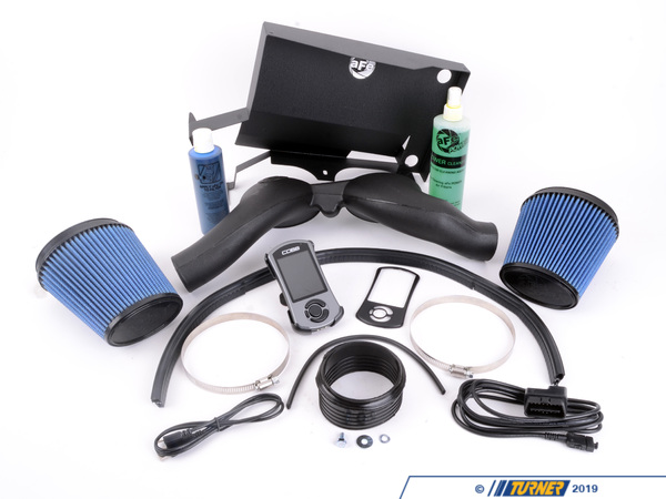 "T#11790 - TMS11790 - E9X 335i/xi N54 Stage 1 Turner Power Package (with aFe DCI Intake) - 2007-2010 E90/E92/E93 335i N54 Stage 1 Performance Package with aFe Dual-Cone IntakePeak Power Gain: up to 103hp / 108ft-lbs+ aFe Pro5R Dual Cone Intake+ Cobb AccessPort programmerOur Stage 1 kit features a cold-air intake kit and performance software for a staggering increase in power and torque on the N54 motor. We offer this package with the aFe Dual Cone Intake (DCI) to open up the breathing. The larger surface area of the filters allows more air to enter the engine - creating more power and torque, a richer engine sound, and better throttle response. The kit is supplied complete with aFe Pro5R filters, mounting shield, intake tubes, sealing materials, hardware, and install instructions. The torque increase from low-mid RPM is sensational.We have paired the aFe DCI with the Cobb AccessPort performance software. The Cobb software tool puts multiple tuning stages in the palm of your hand. Our Stage 1 Performance Package is aligned with the Cobb Stage 1 tuning maps (91 or 93+ octane fuel). Simply plug it in, select the Stage 1 map with your octane preference, and install. Select different maps for other upgrades, throttle settings, octane ratings, valet mode, or revert back to stock! If you're moving up in Stages simply download a new file from the Cobb website and update your AccessPort programmer! The AccessPort triples as a diagnostic tester/reader and a data logger. It's the most feature-packed programmer on the market today.We have taken the guesswork out of choosing the best upgrades for the N54 engine. If you follow the upgrade path we have laid out you will have very satisfying and reliable results. This Stage 1 package is a great 'bang for the buck' upgrade - this power kit makes more power and torque at every RPM and makes a fantastic snarling sound every time you dip into the throttle. Note that peak power gains are quoted above but this package has even bigger performance gains in the lower RPM!This item fits the following BMWs:2007-2010  E90 BMW 335i 335xi 335i xDrive - Sedan2007-2010  E92 BMW 335i 335is* 335xi 335i xDrive - Coupe2007-2010  E93 BMW 335i - Convertible* 335is horsepower gains are lower due to the factory power boost in the ""is"" package - Packaged by Turner - BMW"