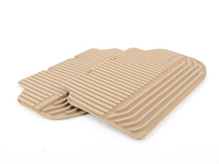 Genuine BMW All-Weather Mat, Rear Beige - 51472153890 - F10