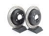 T#12047 - 34211503070CDS - Cross-Drilled & Slotted Brake Rotors - Rear - MINI Cooper and Cooper S (Pair) - StopTech - MINI