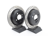 Cross-Drilled & Slotted Brake Rotors - Rear - MINI Cooper and Cooper S (Pair)