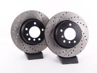 Cross-Drilled & Slotted Brake Rotors - Front - E60 525i (pair)
