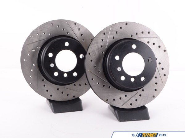 T#12037 - 34116764021CDS - Cross-Drilled & Slotted Brake Rotors - Front - E60 525i (pair) - StopTech - BMW