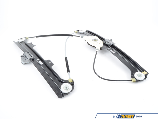 "T#20157 - 51337184384 - Genuine BMW Window Regulator - Front Right - E60 5 series - Replace your faulty window regulator with this Genuine BMW part to ensure that you get the highest quality and most up to date part.   This is the front right window regulator also referred to by BMW as ""window lifter without motor"".   It does not include the window motor.   This item fits the following BMWs:2007-2010  E60 BMW 525i 525xi 530i 530xi 528i 528xi 528i xDrive 535i 535xi 535i xDrive 550i M5 - Genuine BMW - BMW"
