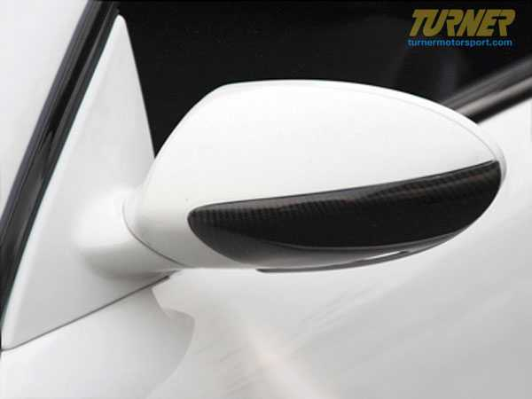 T#1408 - BM-0154 - Carbon Fiber Mirror Covers/Trim for E60 M5 & E63 M6 (Pair) - AUTOTECKNIC - BMW