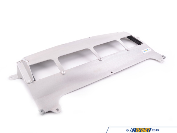 T#395256 - 021491TMS01 - Turner Motorsport Skid Plate - Natural Finish - F80 M3, F82/83 M4 - Since the F8x M3/M4 was designed to make impressive power in stock form (and loads more with upgrades) these cars feature some heavy duty cooling hardware. In order to keep oil temperatures down (something many late model M cars have struggled with) requiresa large oil cooler. BMW engineers positioned the oil cooler quite low under the car, positioned horizontally -an aerodynamic design which creates avacuum force while driving,drawingheat from the oil cooler. The issue some of the vehicle owners have experienced is road debris from small branches to chunks of ice have impacted the OE belly pan hard enough to crack the oil cooler - draining the car's oil rapidly. Being one of the lowest points of the car, even a close encounter with a parking block can mean the end of the road for the factory belly pan - and oil cooler. Damage to the belly pan means reduced cooling, which can result in dangerously high engine temperatures. Once the belly pan is damaged, there is no longer any protection for the oil cooler, meaning damage to the cooler and a catastrophic loss in oil pressure may be right around the corner.The lightweight Turner skid plate comes in just 3 lbs heavier than stock with a total weight of just 5 lbs - additional poundage that is a valuable addition. Designed using 8 gauge5052 aluminum, this skid plate offersplenty of strength to protect your oil cooler. We also made sure this would be an easy, reversible upgrade by maintaining OE mounting locations and hardware that requires NO cutting or modification to your vehicle for fitment. Our engineering team also felt it was important to maintain some of the cooling features the BMW engineers spec'd out such as having a trim seal to fit snugly against the cooler edges to create the same vacuum cooling effects as stock.Features:In-house designed to maintain OEcooling and fitmentManufactured from 8 gauge5052 aluminumMaintains factory hardware and mounting pointsNo cutting, drilling, or modification required5 lbs total weight, only 3 lbs more than the plastic OEMade in America!If new factory hardware is required, use part number07149126886. 11 required in total to secure this skid plate. - Turner Motorsport - BMW