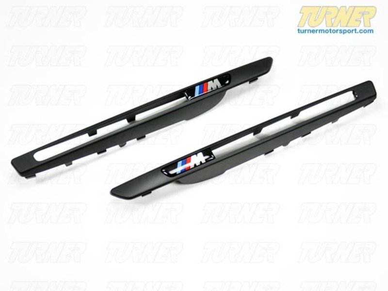T#3144 - BM-0288-ABS - Black Fender Side Grill Trim Set - E71 X6M - AUTOTECKNIC - BMW
