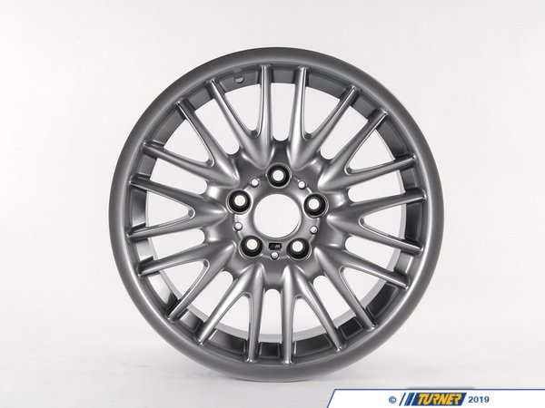 T#16001 - 36112229145 - Genuine BMW Light Alloy Rim 8Jx18 Et:47 - 36112229145 - E46 - Genuine BMW Light Alloy Rim - 8Jx18     Et:47This item fits the following BMW Chassis:E46 - Genuine BMW -