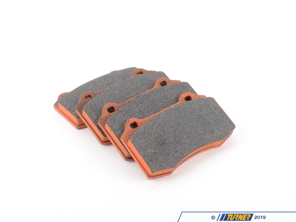 T#1648 - TMS1648 - Brembo Calipers Lotus, A, C, F - Race Brake Pad Set - Pagid RS4-4 Orange - Pagid - BMW MINI