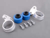 Turner Motorsport Polyurethane Front Control Arm Bushings - 80A - Pre-Installed In Brackets