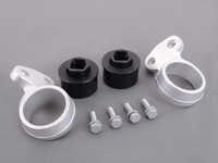 Turner Motorsport Polyurethane Front Control Arm Bushings - 95A - Pre-Installed In Brackets